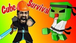 Строительные Работы В Спарте! (Cube Survival) #1