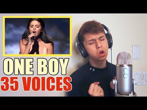 ONE BOY 35 VOICES (Selena Gomez, Drake, Ariana Grande etc..)