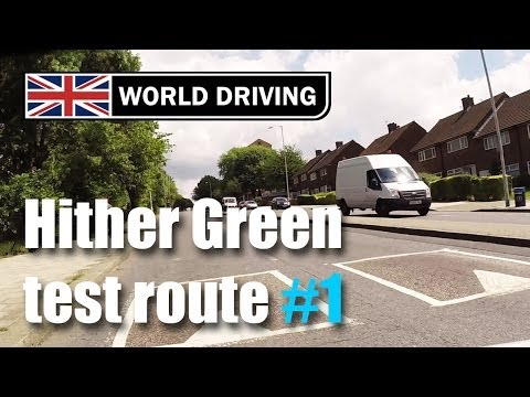 Hither Green driving test route PART 1 (2014)