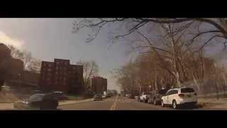 New York Red Hook  Brooklyn - Fahrt durch den Stadtteil