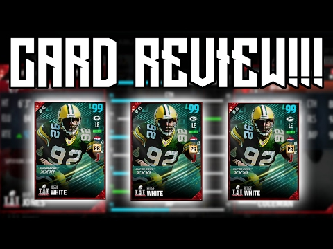 NEW REGGIE WHITE SUPER BOWL LEGEND CARD REVIEW!!! |MADDEN 17 ULTIMATE TEAM CARD REVIEW