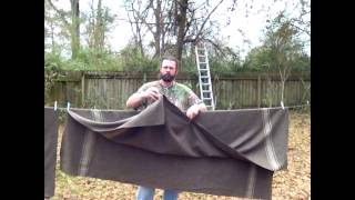 Making a queen sized bushcraft blanket from Italian military wool blankets