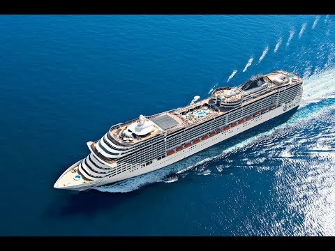 MSC Fantasia Mediterranean Sea onboard big cruiseliner 4K