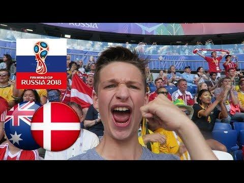 DENMARK vs AUSTRALIA *VLOG* Socceroos vs Danish boys - Russia World Cup 2018