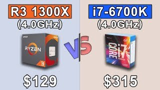 Video RYZEN 3 1300X OC (4.0GHz)  vs  i7 6700K (4.0GHz)  ||  1080p and 2160p Gaming Benchmarks download MP3, 3GP, MP4, WEBM, AVI, FLV Oktober 2018