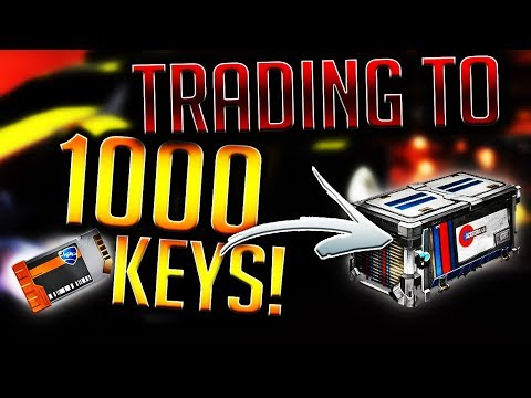 TRADING TO 1000 KEYS! BIGGEST Preparation For Accelerator Crate! (Rocket League Trading)