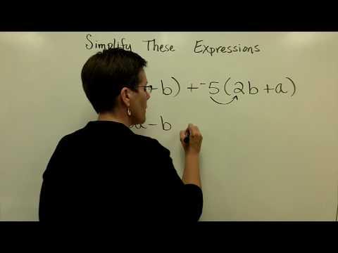 13 - Introductory Algebra - Simplify Algebraic Expressions