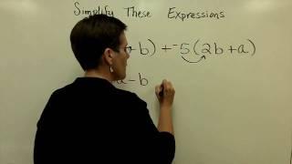 13 - Introductory Algebra - Simplify Algebraic Expressions thumbnail