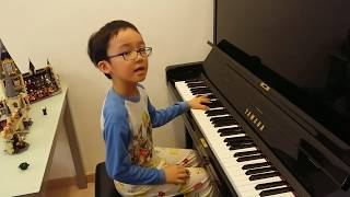 Moonlight Sonata Op.27 No.2 (Movements 1,2,3) of Beethoven, by Jonah Ho (age 7)