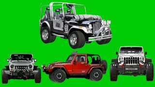 Jeep  Vfx Animation /green screen background video effect / chroma key effect / No-14