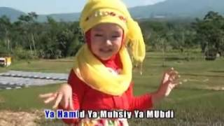 Gambar cover lagu sholawat anak islami mila meylani asmaul husna