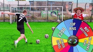 MYSTERY WHEEL FOOTBALL CHALLENGE VS MINIMINTER Video