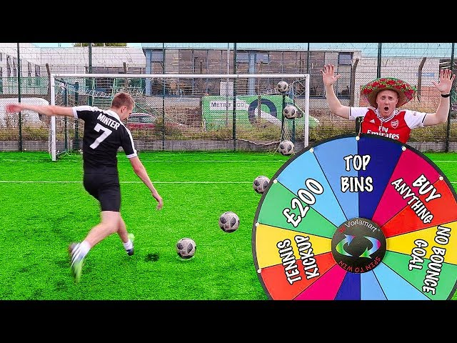MYSTERY WHEEL FOOTBALL CHALLENGE VS MINIMINTER