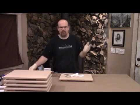 How to prep  for sample boards for Stone Coat Countertop epoxy