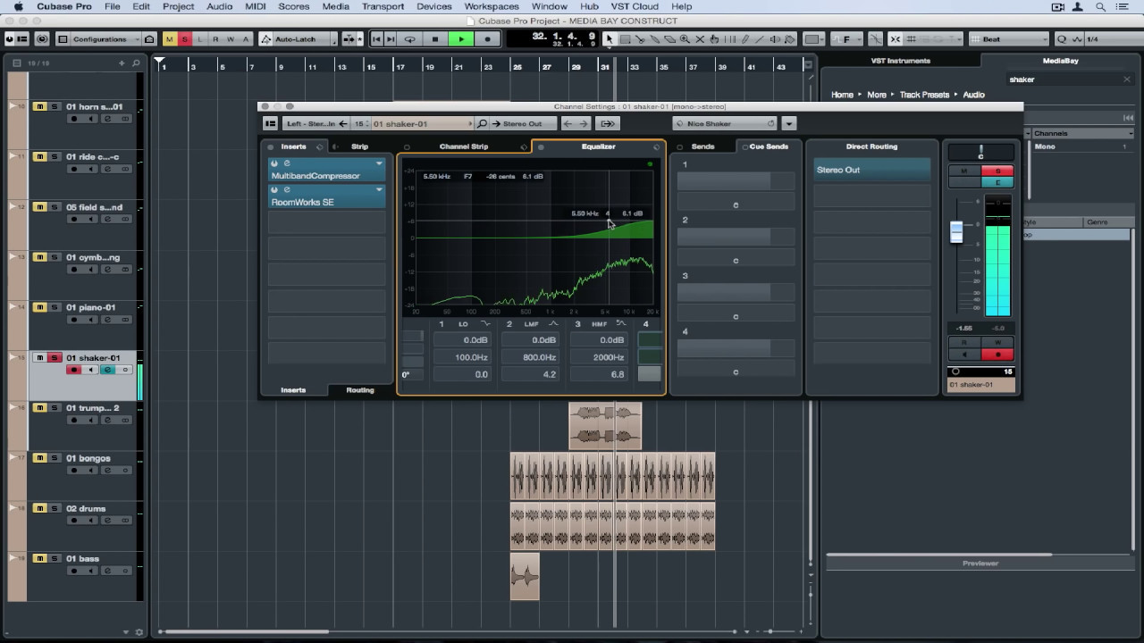 how to create instrument track in audition