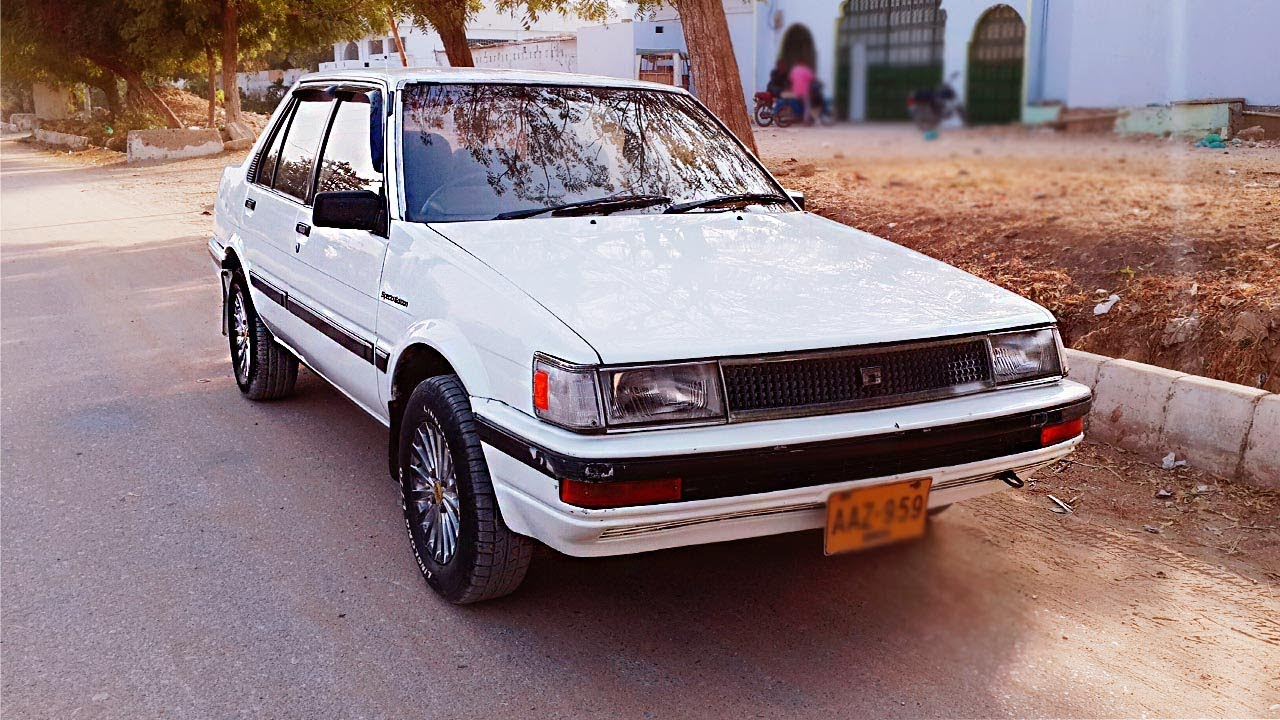 Toyota Corolla Gl Saloon 1987 Quick Review By E Ep Autos Youtube