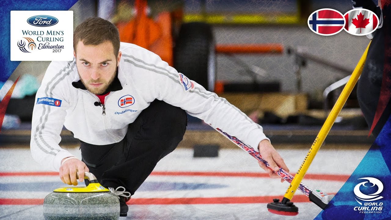 Norway V Canada Round Robin Ford World Men S Curling Championship 2017 Youtube