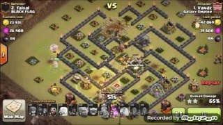 Clash Of Clans - Queen Walk + GoWiHo TH 9 Attack Strategi 3 Stars