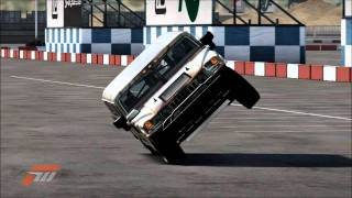 Forza Motorsport 4-Hummer H1 Alpha Stunt on Two Wheels 34 Sec. (My new Record!!!)