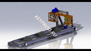 Ленточная пилорама своими руками. Чертежи.3D-модель. Sawmill.
