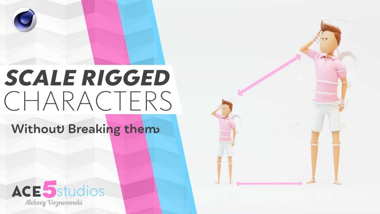 How to scale rigged Characters in Cinema4D