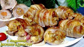 Зразы из курицы с различными начинками 6 вариантов начинок Мясные зразы Meat zrazy 6 options fo