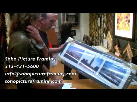 "Soho Picture Framing Testimonial #2 (""That looks really great- perfect!"")"