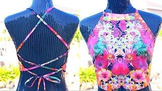 DIY Backless Halter Top! EASY Sewing