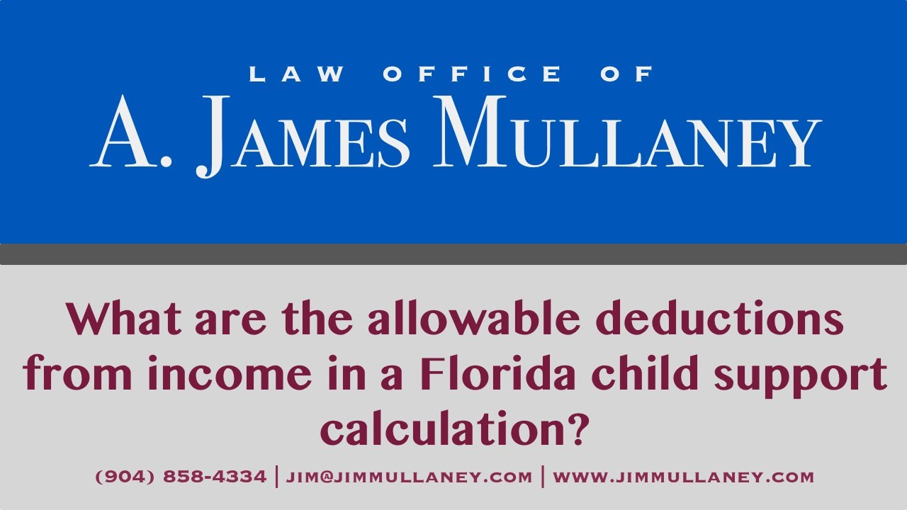 what are the allowable deductions from income in a florida child support calculation