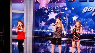 "3 Girls singing ""Baby"" by Justin Bieber on Americas Got Talent"