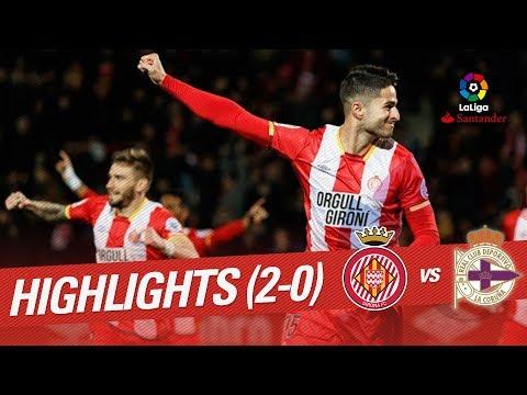 Resumen de Girona FC vs RC Deportivo (2-0)