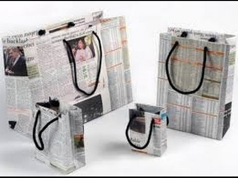 Tutorial bolsa de regalo de papel de periodico youtube - Papeles de regalo ...