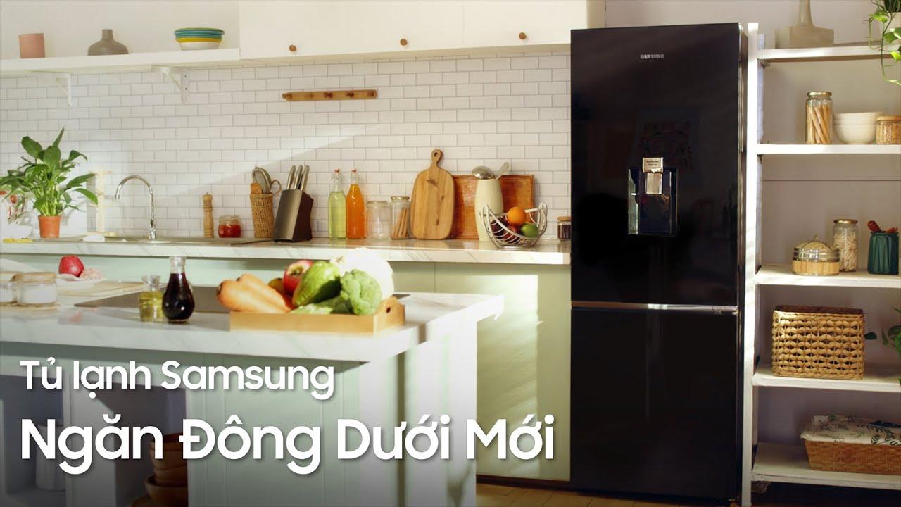Tủ Lạnh Samsung Ngăn Đông Dưới Mới Với Ngăn Làm Đá Tự Động