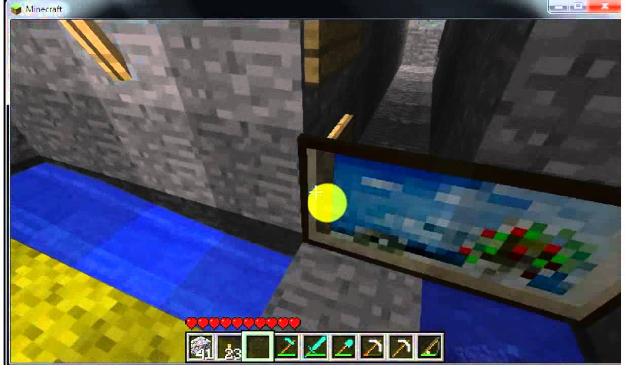 how to make a walkthrough painting in minecraft