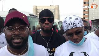 Falz And Runtown Leads #EndSARS Protest In Lagos