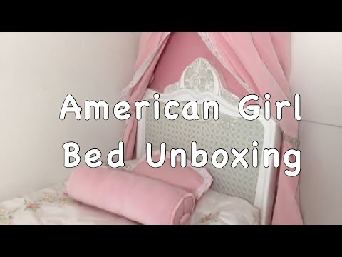 American Girl: Samantha's Bed And Bedding Unboxing