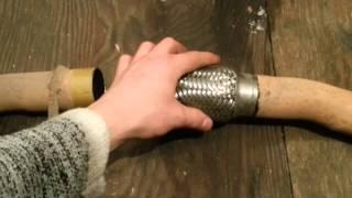 Ремонт выхлопной системы TLC 100, Repair exhaust system TLC 100.(В этом видео показано как своими руками заменить гофру глушителя, на автомобиле TLC 100., 2015-02-05T04:41:23.000Z)