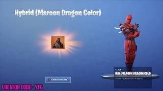 *NEW* HYBRID (MAROON DRAGON COLOR) on Fortnite Battle Royale Season 8