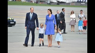 Kate Middleton, Prince William, George & Charlotte Germany visit (19Jul17)