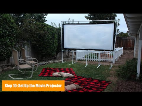 Superbe How To Make A Backyard Movie Screen