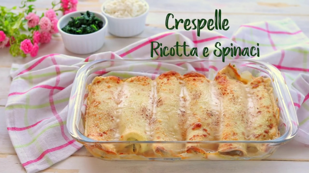 Crespelle al forno con ricotta e spinaci ricetta facile for Gnocchi di ricotta fatto in casa da benedetta