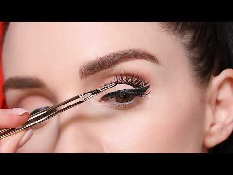 how to apply false lashes | tarte talk thumbnail