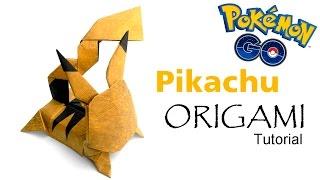 Origami Pikachu Tutorial (Kozasa Keiichi) Pokemon go 折り紙 ピカチュウ оригами учебник покемон Пикачу