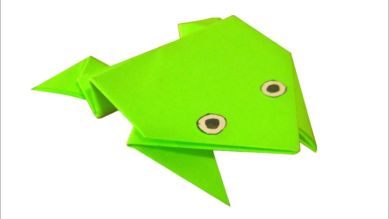 Оригами лягушка из бумаги картинки