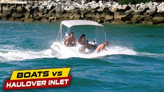 THIS BOAT NEVER STOOD A CHANCE! | Boats vs Haulover Inlet