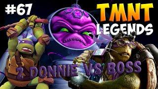 Черепашки-Ниндзя: Легенды. Прохождение #67 2 Donnie vs FINAL BOSS (TMNT Legends IOS Gameplay 2016