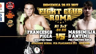 Francesco Picca vs Massimiliano D'Antimi - Fight Cub Roma 2.017 | 26-06-2017