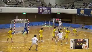 9日 ハンドボール男子 あづま総合体育館 Aコート 法政二×北陸 準決勝 2
