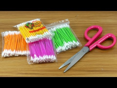 DIY cotton buds | Best craft with cotton buds | DIY arts and crafts