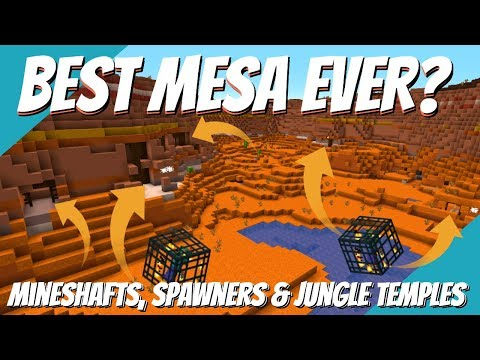 The Best Minecraft Seed: Biomes Everywhere - Spawners - Mineshafts - Jungle Temples (Avomance 2019)
